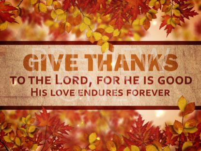 give thanks - Nehemiah E-Community