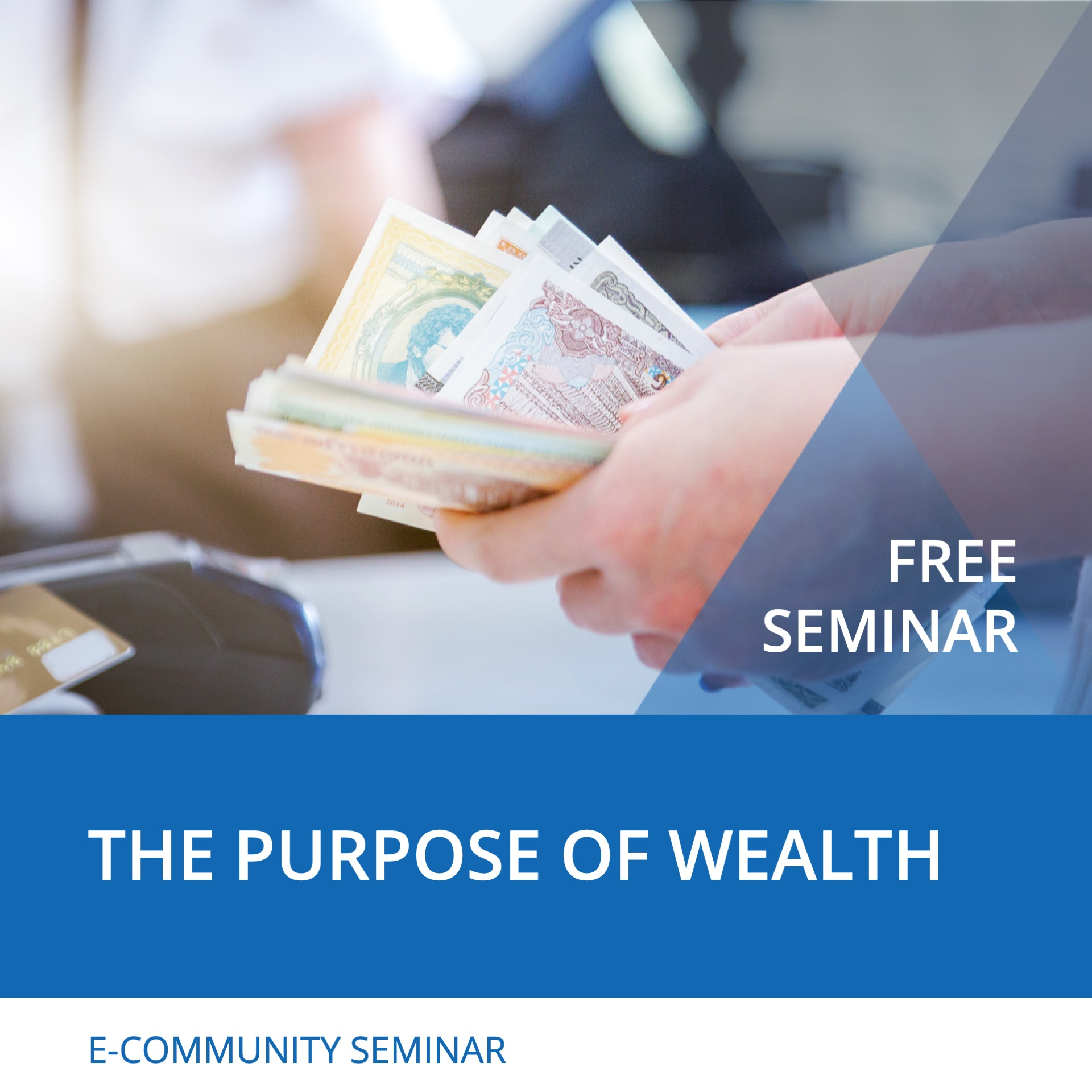 Seminar The Purpose of Wealth - Nehemiah E-Community