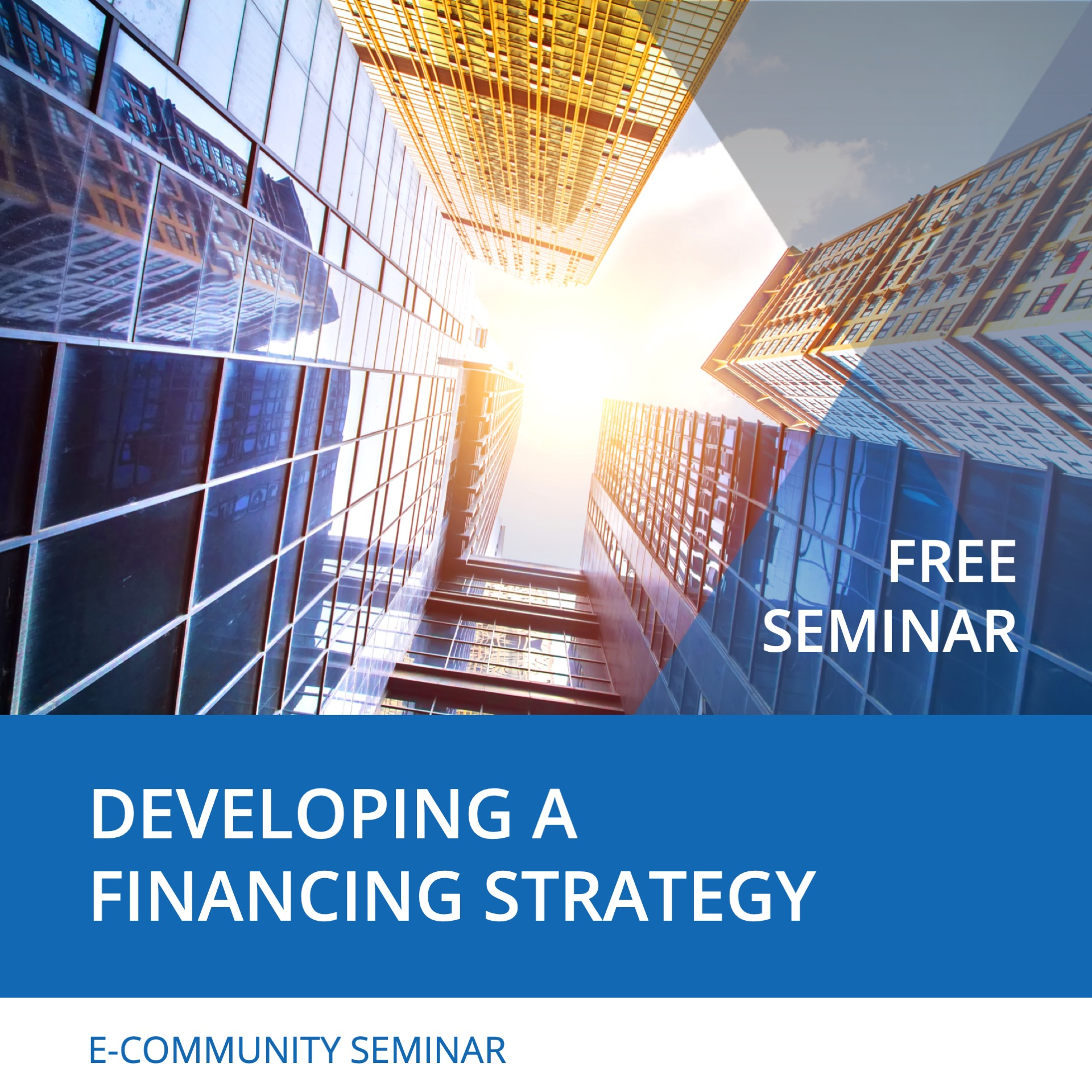 Seminar Developing a Financing Strategy - Nehemiah E-Community