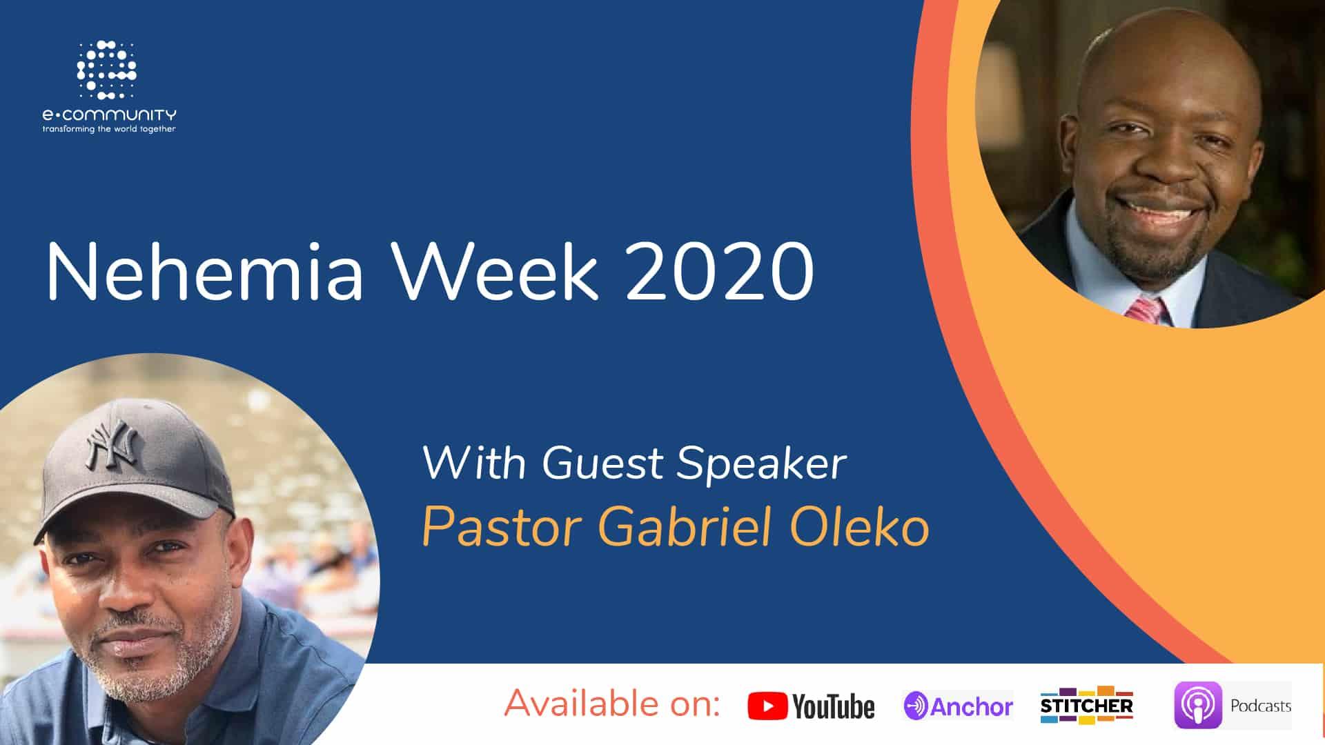 E Community Podcast with Pastor Gabriel Oleko