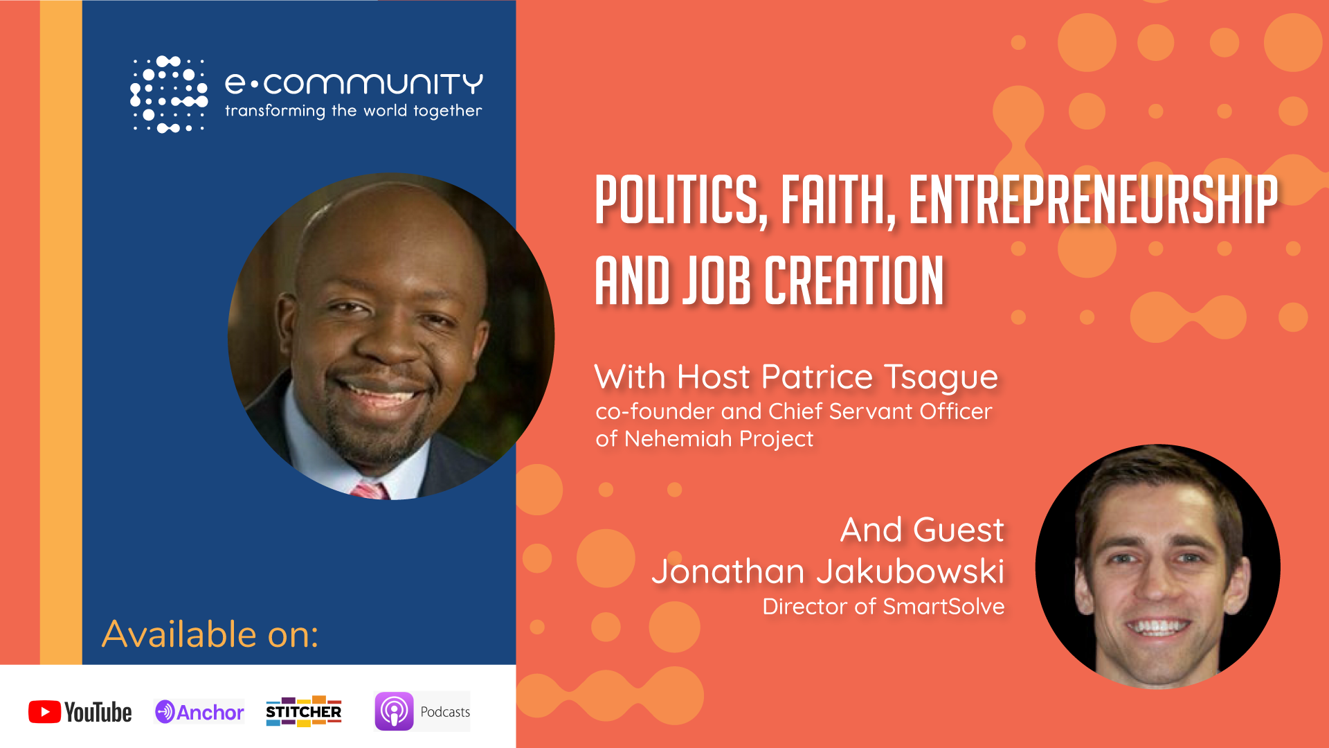 Politics, faith, Entrepreneurship and Job creation