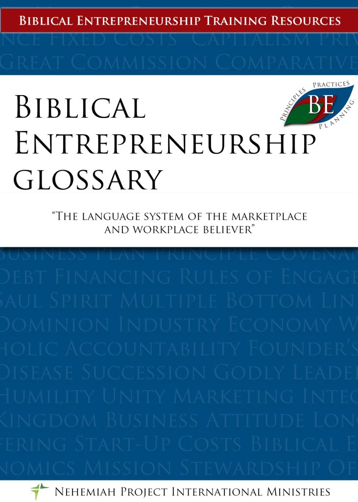 BE Glossary - Nehemiah E-Community