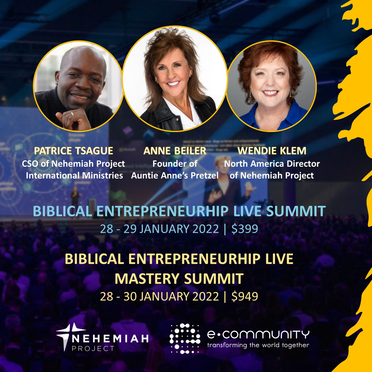 SummitnMastery Summit Promo - Nehemiah E-Community